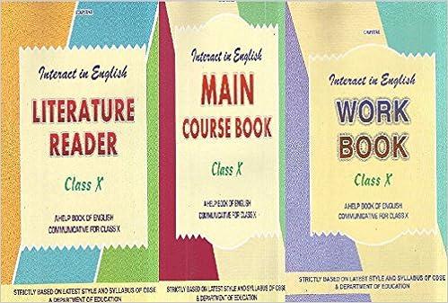 Main Course Book Class 10