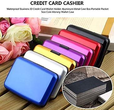 Imperméable ID carte de crédit porte-monnaie en aluminium étui en méta~PL