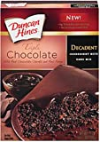 Duncan Hines Decadent Triple Chocolate Cake Mix, 21-Ounce (Pack of 4)
