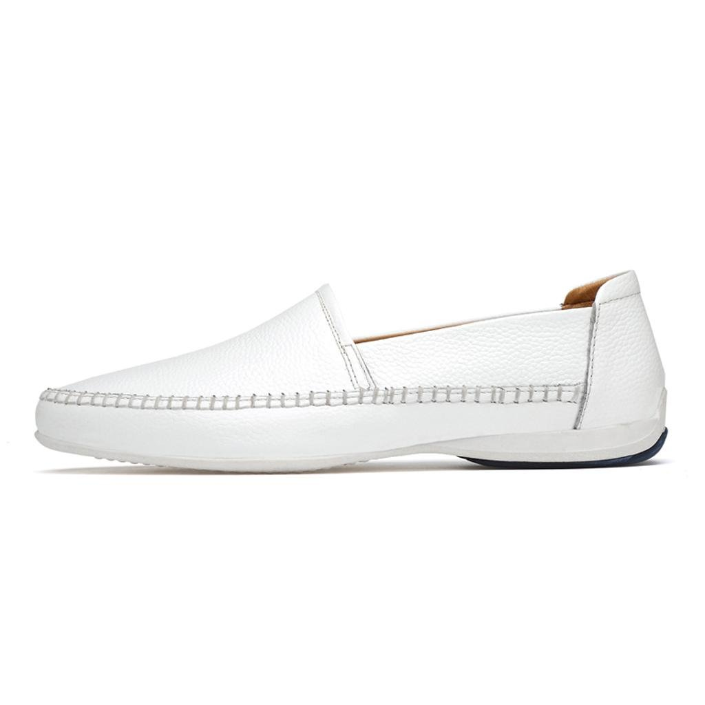 M&M Männer Casual Schuhe Lederschuhe Gezeitenschuhe Arbeitsschuhe Business Schuhe Lederschuhe Schuhe Weiß 544dce