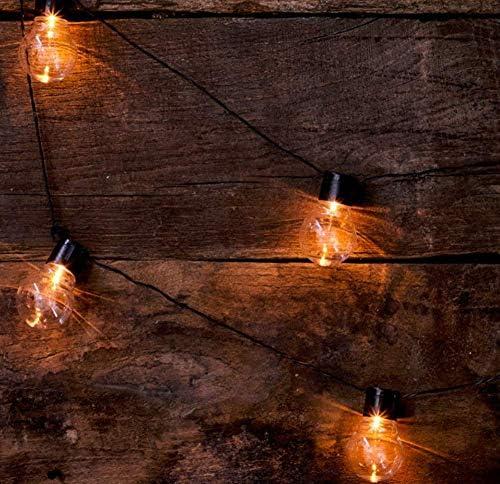 Solar Bulbs String Lights, 20 LED 3M Plastic Light Bulb String Lights Waterproof with 2 Modes Lighting for Outdoor, Garde Gift