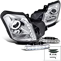 Cadillac CTS 8 SMD LED Halo Projector Headlights+Daytime Running Fog Lamps