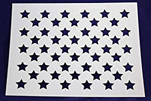 Enterprising image for american flag star stencil printable
