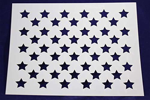 photograph regarding American Flag Star Template Printable called 50 Star Industry Stencil - 17.6 x 22 Inches - United states American Flag