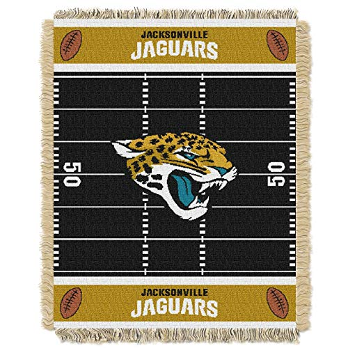 "Northwest Jacksonville Jaguars Nfl Triple Woven Jacquard Throw (field Baby Series) (36""x48"")"