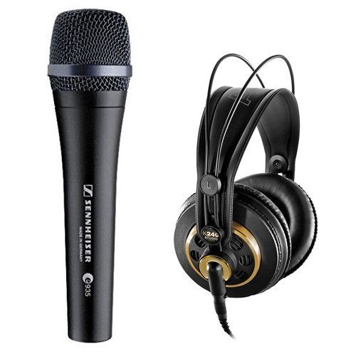 (Sennheiser e935 Wired Professional Cardioid Dynamic Handheld Vocal Microphone with AKG K240STUDIO Professional Stereo Headphones)
