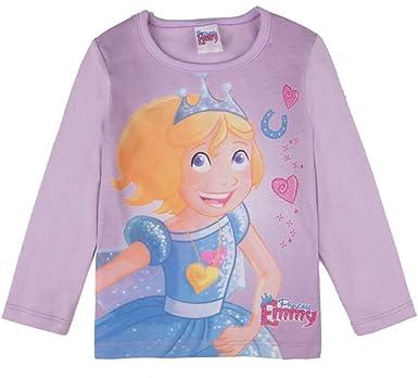 PRINZESSIN EMMY niñas T-Shirt, Camisa, Violeta: Amazon.es: Ropa y accesorios