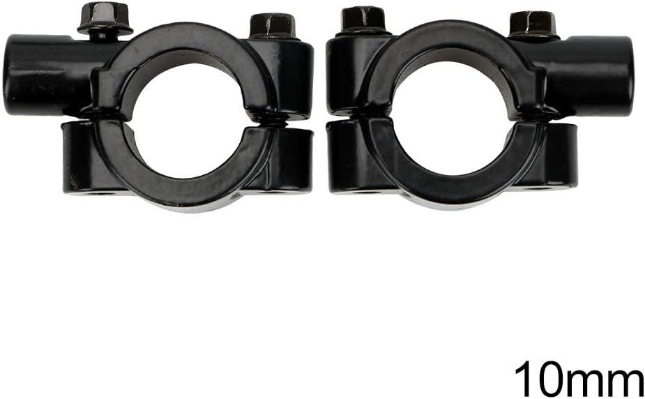 8mm 2 St/ücke 8mm 10mm R/ückspiegel Halterung Klemmenadapter Moto Zubeh/ör Universal Motorrad 7//8Lenker Spiegelhalterung