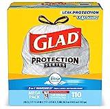 Glad Tall Kitchen Drawstring Trash Bags - OdorShield 13 Gallon White Trash Bag, Febreze Fresh Clean - 110 Count: more info