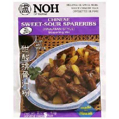 Sweet Sour Spare Ribs - Noh Foods Of Hawaii BG16508 Noh Foods Of Hawaii Chinese Sweet-Sour Mix - 12x1.5OZ