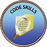 Keepsake Awards Code Skills, Award, 1 inch dia Gold Pin Special Knowledge Collection