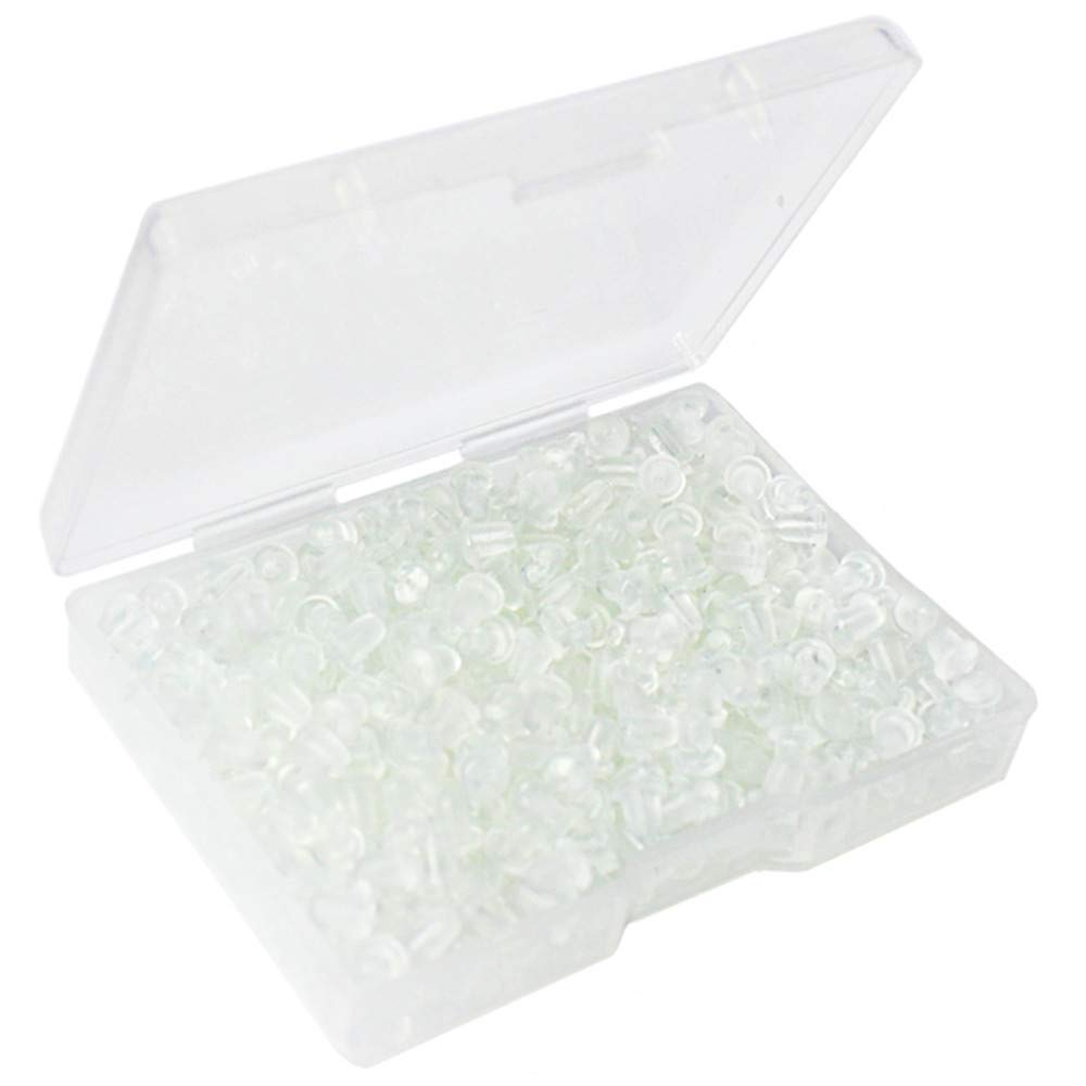 400pcs Earring Backs, Premium Clutch Safety Earring Pad, Clear Bullet Stopper Replacement Jewelry Findings Stored in a Small Storage Box (400pcs) Meiho Lives