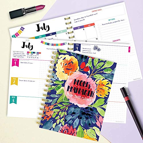 Mom's Manager Medium Daily Weekly Monthly 2020 Planner: July 2019 - June 2020 (Academic School Year, Student Planner)