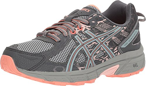 ASICS Gel-Venture 6 Women's Running Shoe, Carbon/Mid Grey/Seashell Pink, 8.5 W - Shoes Athletic Feet For Flat