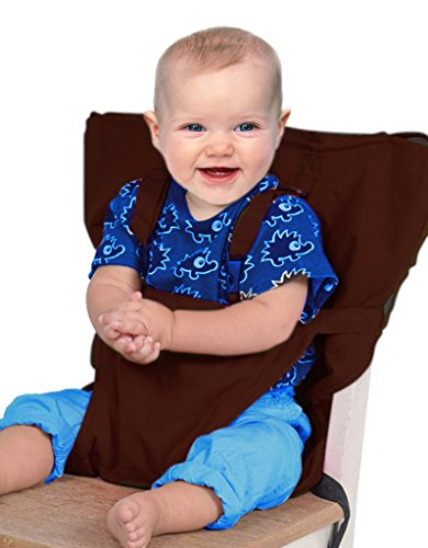 GudeHome Baby Portable High Chair Safety Harness Toddler Foldable Safety Sack Belt Seats Cover