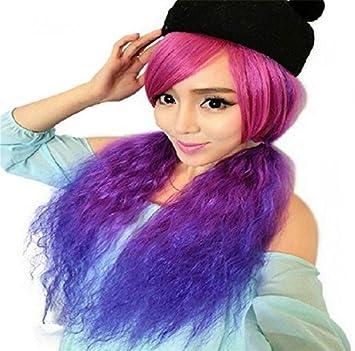 ATOZWIG@New Arrival Harajuku Lilita Style curly kinkyOmbre wigs Costume Full Wig+Free Wig