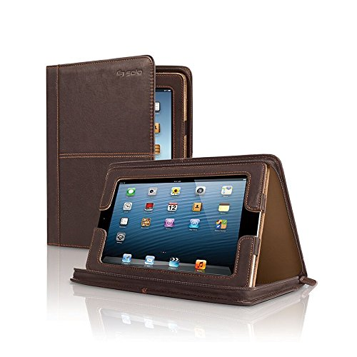 Solo Madison Leather Padfolio for iPad , generations 1, 2, 3 and 4, Brown, VTA131
