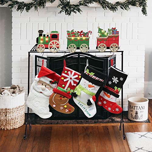 FORUP Christmas Stocking Holder Stand Hangers (Christmas Train) (Tree Holder Stocking Christmas)