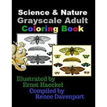Science & Nature Grayscale Adult Coloring Book