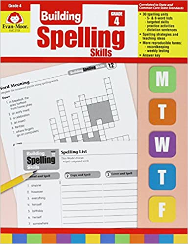 Math Worksheets common core 4th grade math worksheets : Amazon.com: Building Spelling Skills, Grade 4 (9781557998422 ...