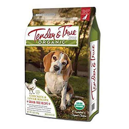 Image of Tender & True 854005 Organic Chicken & Liver Recipe 20 Lb Dry Dog Food, One Size