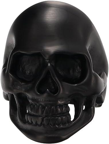MOWEN/® Jewelry Mens Stainless Steel Devil Gothic Skull Bone Heavy Ring,Sizes7#-15#