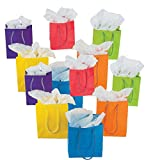 Fun Express Paper Gift Party Bags (Lot of 24), Small, Bright Neon