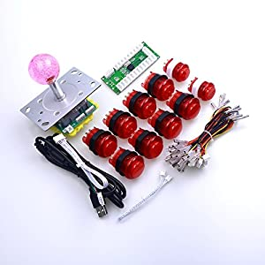 510s0yVV6eL._SY300_ amazon com easyget 5v led joystick and 10pcs arcade led buttons Basic Electrical Wiring Diagrams at crackthecode.co