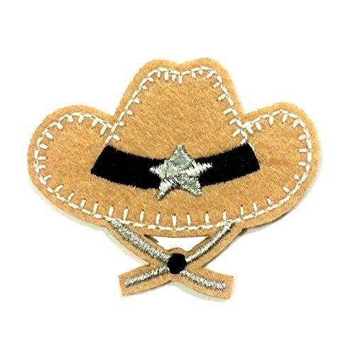 - Cowboy Hat Iron on Applique Patch - 6Patch