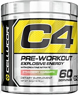 Cellucor C4 Explosive Preworkout Supplement, Strwaberry Margarita, 60 Servings at amazon
