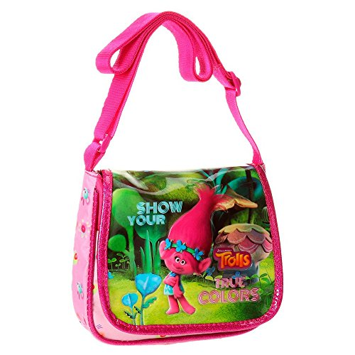 Trolls True Colors Borsa Messenger, 17 cm, 1.02 liters, Multicolore (Multicolor)