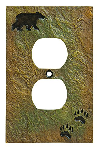 Big Sky Carvers 30170438 Bear and Tracks Outlet Cover