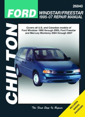 amazon com ford windstar freestar chilton manual 1995 2007 rh amazon com 2003 Oldsmobile Silhouette Transmission 2003 Oldsmobile Silhouette Repair Manual