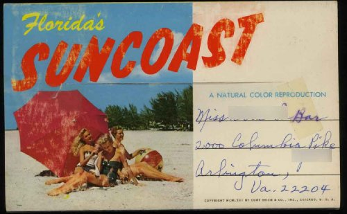 Florida's Suncoast (St. Petersburg - Holiday Isles - Clearwater) (1960's Souvenir Florida Postcard Packet / Folder) ()