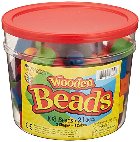 Learning Resources Beads in a Bucket Set of -