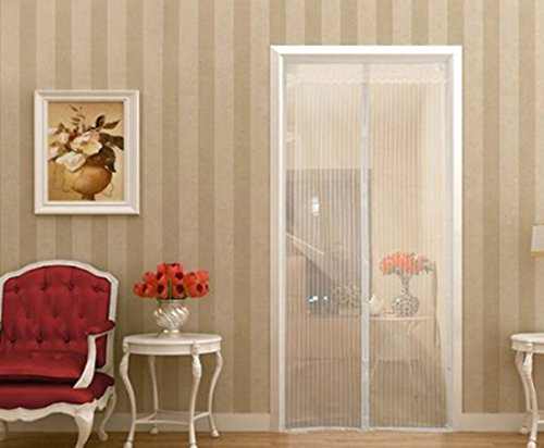 Magnetic Screen Door,Sell4Style Mesh Curtain - Mosquito Net Fits Doors up to 39