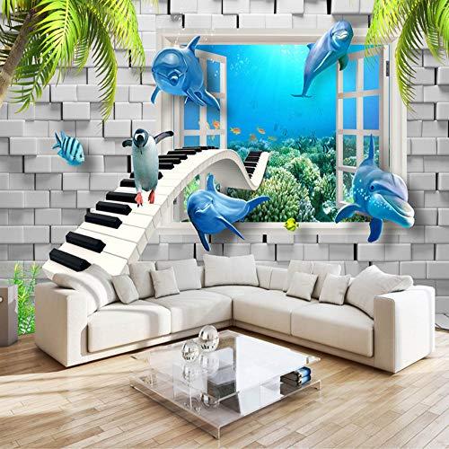 xbwy Hd Modern Underwater World Children's Room 3D Mural Wallpaper Kids Bedroom Backdrop Wall Painting -350X250Cm