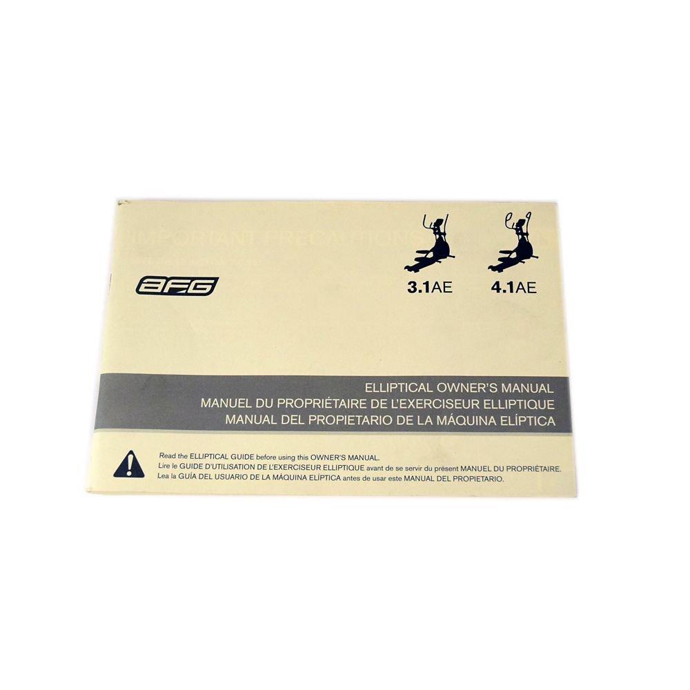 Afg 1000212265 Elliptical Owner's Manual Genuine Original Equipment Manufacturer (OEM) Part for Afg