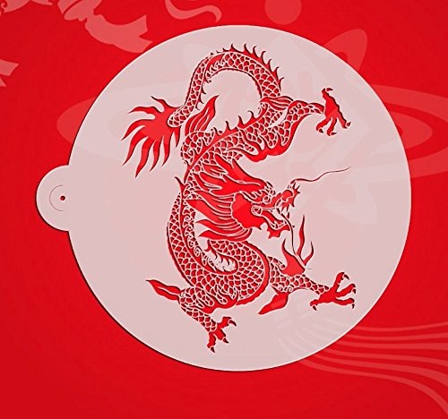Stencils Set for Painting - Laser Cutting Floor Wall Tile Fabric Wood Cake Decorating Reusable Drawing DIY Stencils -Dragon and Phoenix Designs Scale Template (3 pcs) by ZOMCHAIN (Image #1)