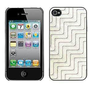 Jordan Colourful Shop - Zen Pattern Architecture White Minimalism For iPhone 4 / 4S Personalizado negro cubierta de la caja de pl????stico