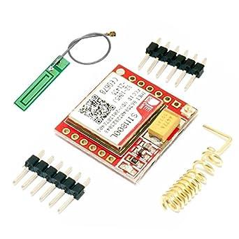 HiLetgo Smallest SIM800L GPRS GSM Breakout Module Quad-Band  850/900/1800/1900MHz SIM Card Slot Onboard with Antenna 3 7~4 2V