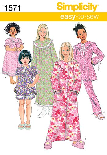 Simplicity Creative Patterns 1571 Child's and Girl's Loungewear Separates, K5 ()