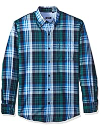 IZOD Men's Long Sleeve Twill Easy-Care Plaid Shirt