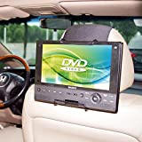 TFY Universal Car Headrest Mount Holder for Swivel Screen and Standard Portable DVD Player