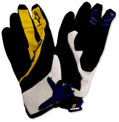 Price comparison product image Alpinestars Moab Cycling Gloves,  XX-Small,  Yellow / Electric Blue