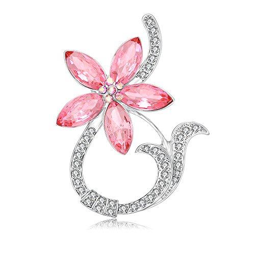 Noumanda Mode Plaqué or fleur support magnétique pour lunettes en forme de broche