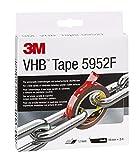 3M VHB Klebeband 5952F für anspruchsvolle Oberflächen, Schwarz, 19 mm x 3 m, 1,1 mm