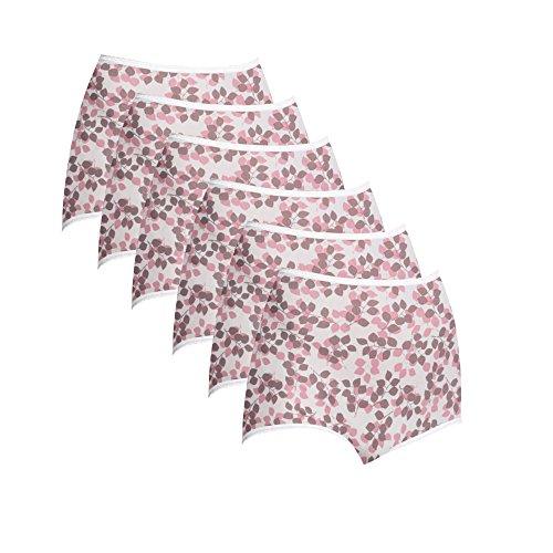 Bali Women`s Set of 6 Skimp Skamp Brief Panty - Best-Seller! 7, Tender Bud ()