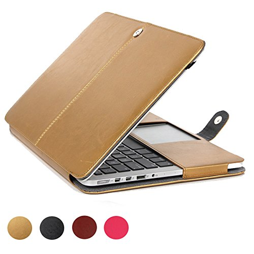 MacBook Air 13 inch Case, Vintage Classic Design, Slim & Thin,Precise Cut-Out,elecfan Protective Business Case Cover Shell – Gold