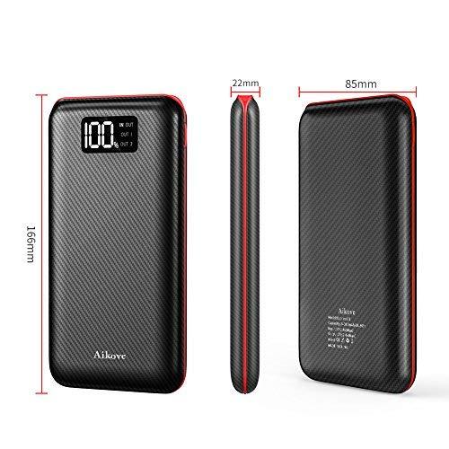 Batterie Externe 24000mAh Power Bank Aikove Chargeur Portable Deux Entr/é es /& 3 Ports Haute Vitesse et Technologie Digi-Power pourTous les smartphones Tablette  USB Via Device